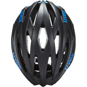 UVEX ultrasonic race Cykelhjelm, black mat-blue